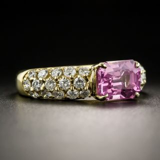 Estate 2.46 Carat Pink Sapphire and Diamond Ring