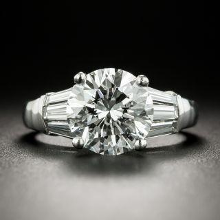 Estate 2.66 Carat Diamond Engagement Ring - GIA D VS1 - 2