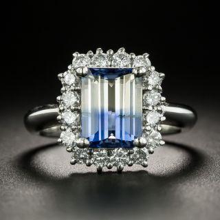 Estate Blue & White Bi-Color Sapphire and Diamond Ring - 2