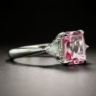 Estate 2.82 Carat Pink Sapphire and Diamond Ring