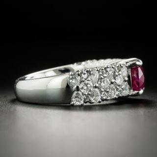 Estate 2.90 Carat Burmese Ruby and Diamond Ring - GIA