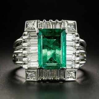 Estate 2.90 Carat Emerald and Diamond Ring  - 2