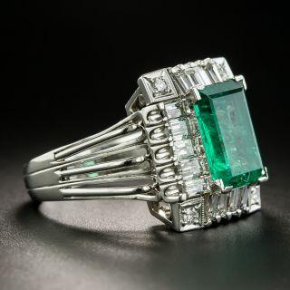 Estate 2.90 Carat Emerald and Diamond Ring