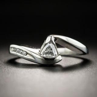 Estate .20 Carat Trillion-cut Diamond Ring - 1