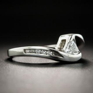 Estate .20 Carat Trillion-cut Diamond Ring