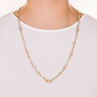 """Estate 24"""" Diamond Chain Necklace"""