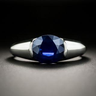 Estate 3.00 Carat No-Heat Sapphire Solitaire Ring - 1