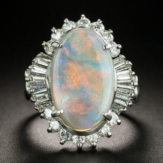 Estate 3.00 Carat Opal and Diamond Ring - 1