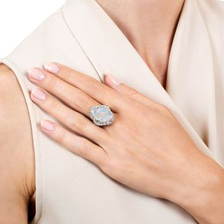 Estate 3.00 Carat Opal and Diamond Ring