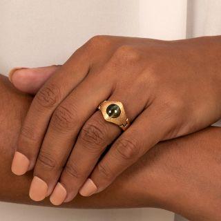 Estate 3.40 Carat Cat's Eye Chrysoberyl Ring
