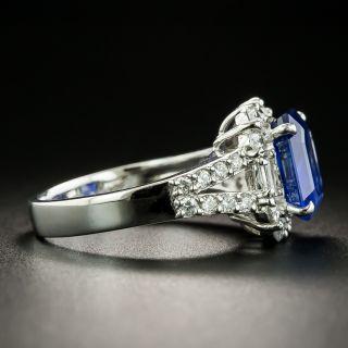 Estate 3.48 Carat No-Heat Ceylon Sapphire and Diamond Ring - GIA
