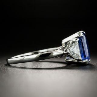 Estate 3.56 Carat Emerald-Cut Sapphire and Diamond Ring