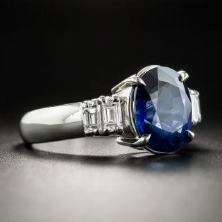 Estate 3.71 Carat Sapphire Platinum Diamond Ring