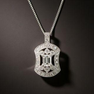 Estate .32 Carat Emerald-Cut Diamond Pendant - 2