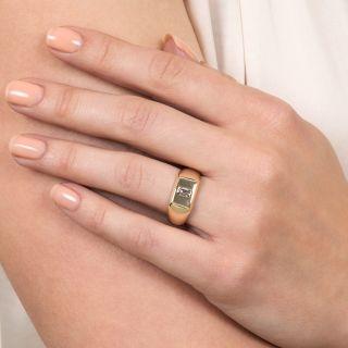 Estate .35 Carat Emerald-Cut Diamond Ring