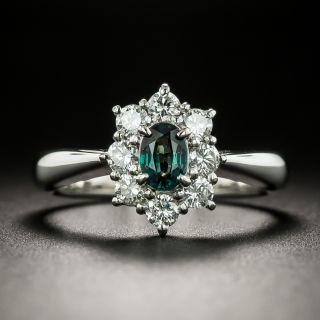 Estate Alexandrite and Diamond Halo Ring - 2