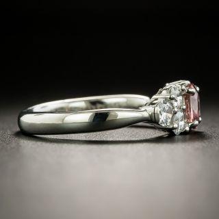 Estate .38 Carat Padparadscha Sapphire and Diamond Ring