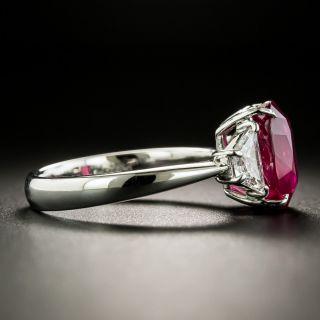 Estate 4.04 Carat Ruby and Diamond Ring - GIA