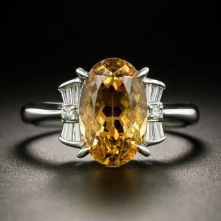 Estate 4.15 Carat Topaz and Diamond Ring - 2