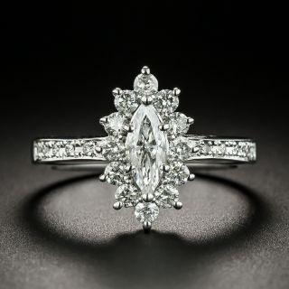 Estate .40 Carat Marquise-Cut Diamond Engagement Ring - 2