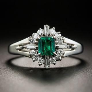 Estate.41 Carat Emerald and Diamond Ring - 1