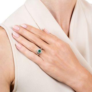 Estate .41 Carat Emerald and Diamond Ring