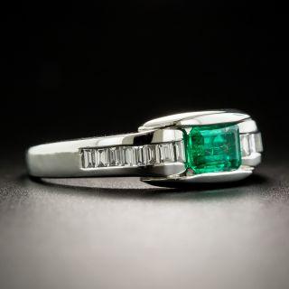 Estate .43 Carat Emerald and Diamond Ring