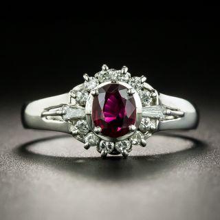 Estate .43 Carat Ruby and Diamond Ring - 1