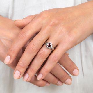 Estate .43 Carat Ruby and Diamond Ring