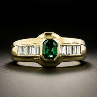 Estate .45 Carat Emerald and Diamond Ring - 1