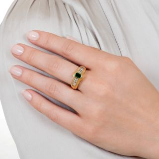 Estate .45 Carat Emerald and Diamond Ring
