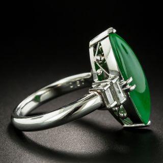 Estate 5.45 Carat Burmese Jade and Diamond Ring