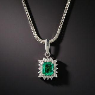 Estate .50 Carat Emerald and Diamond Drop - 2