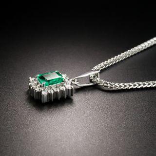 Estate .50 Carat Emerald and Diamond Drop