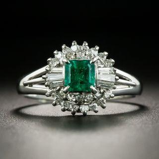 Estate .51 Carat Emerald and Diamond Ring - 1
