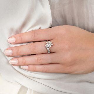 Estate .52 Carat Center Diamond Spray Ring