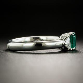 Estate .52 Carat Emerald and Diamond Ring