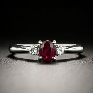 Estate .52 Carat Ruby and Diamond Ring - 3