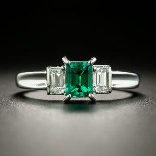 Estate .55 Carat Emerald and Diamond Ring - 2