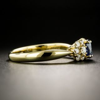 Estate .55 Carat Sapphire and Diamond Bow Ring