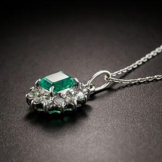 Estate .58 Carat Emerald and Diamond Pendant