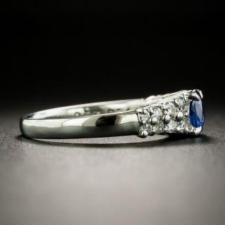 Estate .58 Carat Oval Sapphire and Diamond Ring