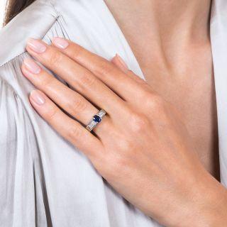 Estate .58 Carat Sapphire and Diamond Ring
