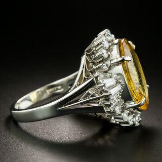 Estate 6.40 Carat Beryl and Diamond Cocktail Ring