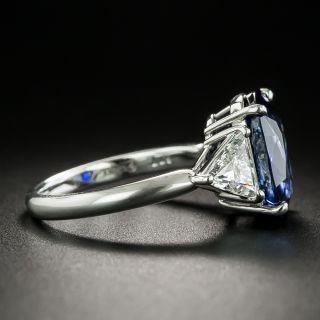 Estate 6.77 Carat Royal Blue Ceylon Sapphire and Diamond Ring