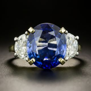 Estate 6.81 Carat Ceylon Sapphire and Diamond Ring - 2