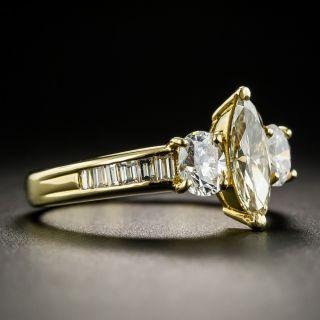 Estate .60 Carat Fancy Light Yellow Marquise Diamond Ring