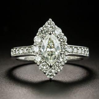 Estate .60 Carat Marquise-Cut Diamond Halo Ring - 2