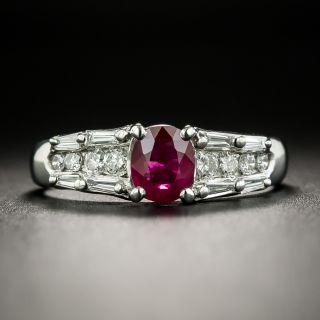 Estate .60 Carat Ruby and Diamond Ring - 2