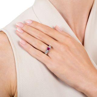 Estate .60 Carat Ruby and Diamond Ring